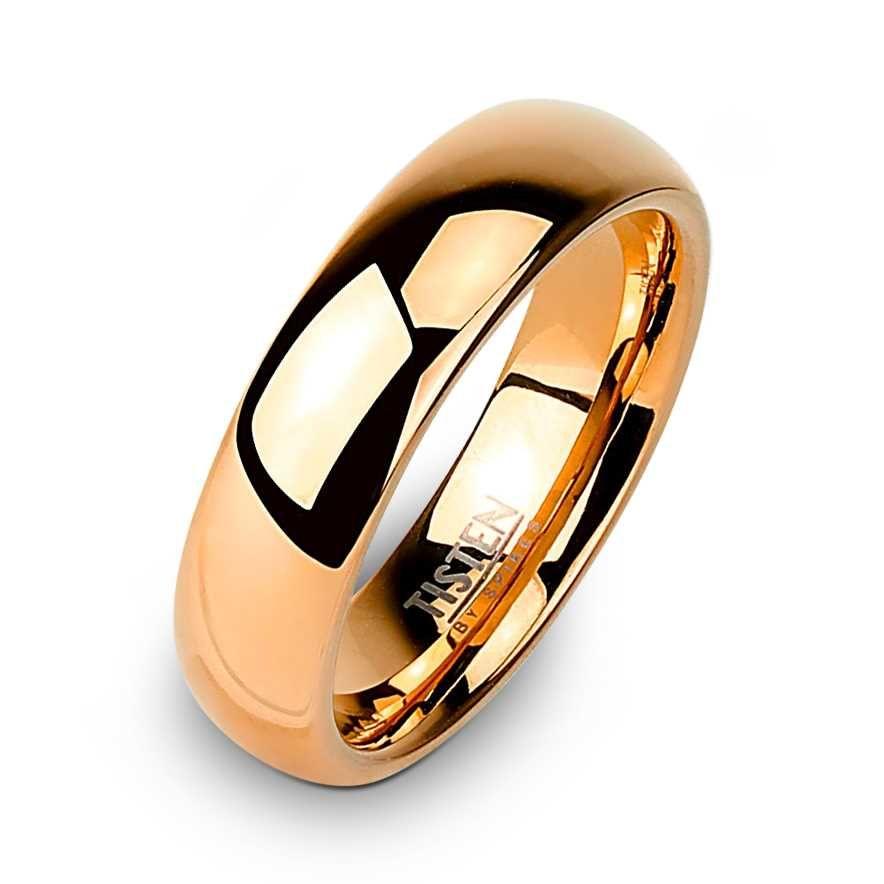 2f1ba83cecc0c1 Damska obrączka z Tistenu pokryta czerwonym złotem.